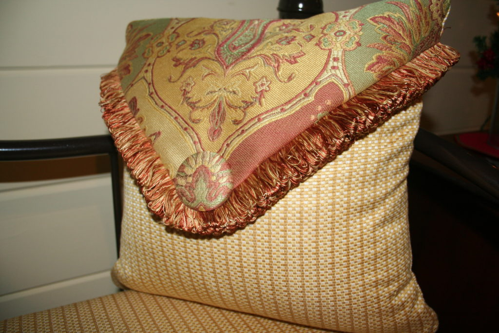 Cover button pillow, valances, bedding