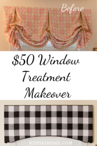 Window Valance, $50 window treatment
