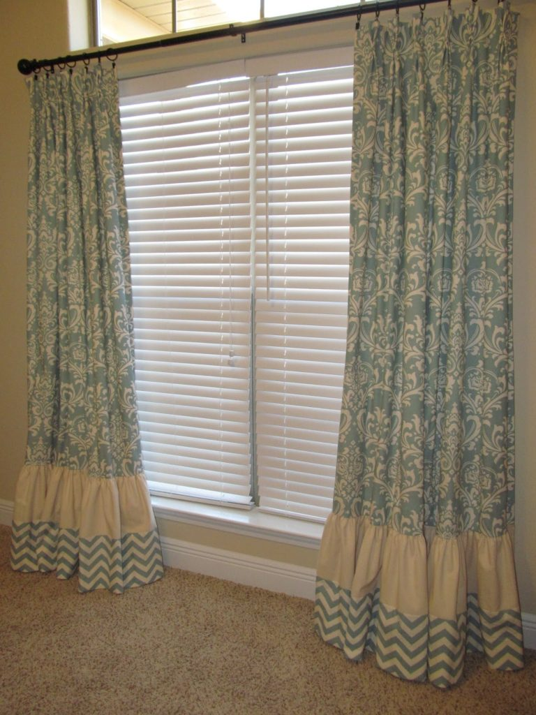 Pretty window treatment transformation, custom updated panels