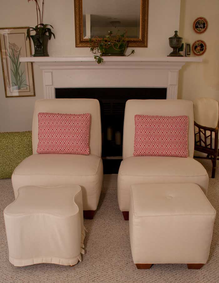 Sunbrella Fabric Upholstery Family Room Facelift