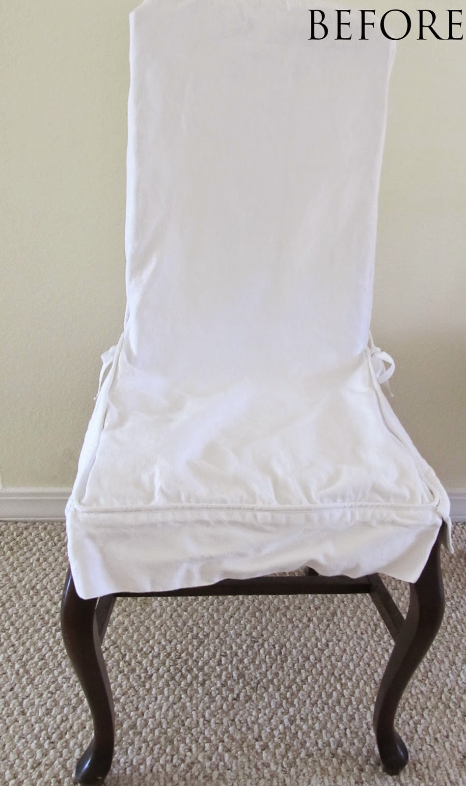 Front of old slipcover