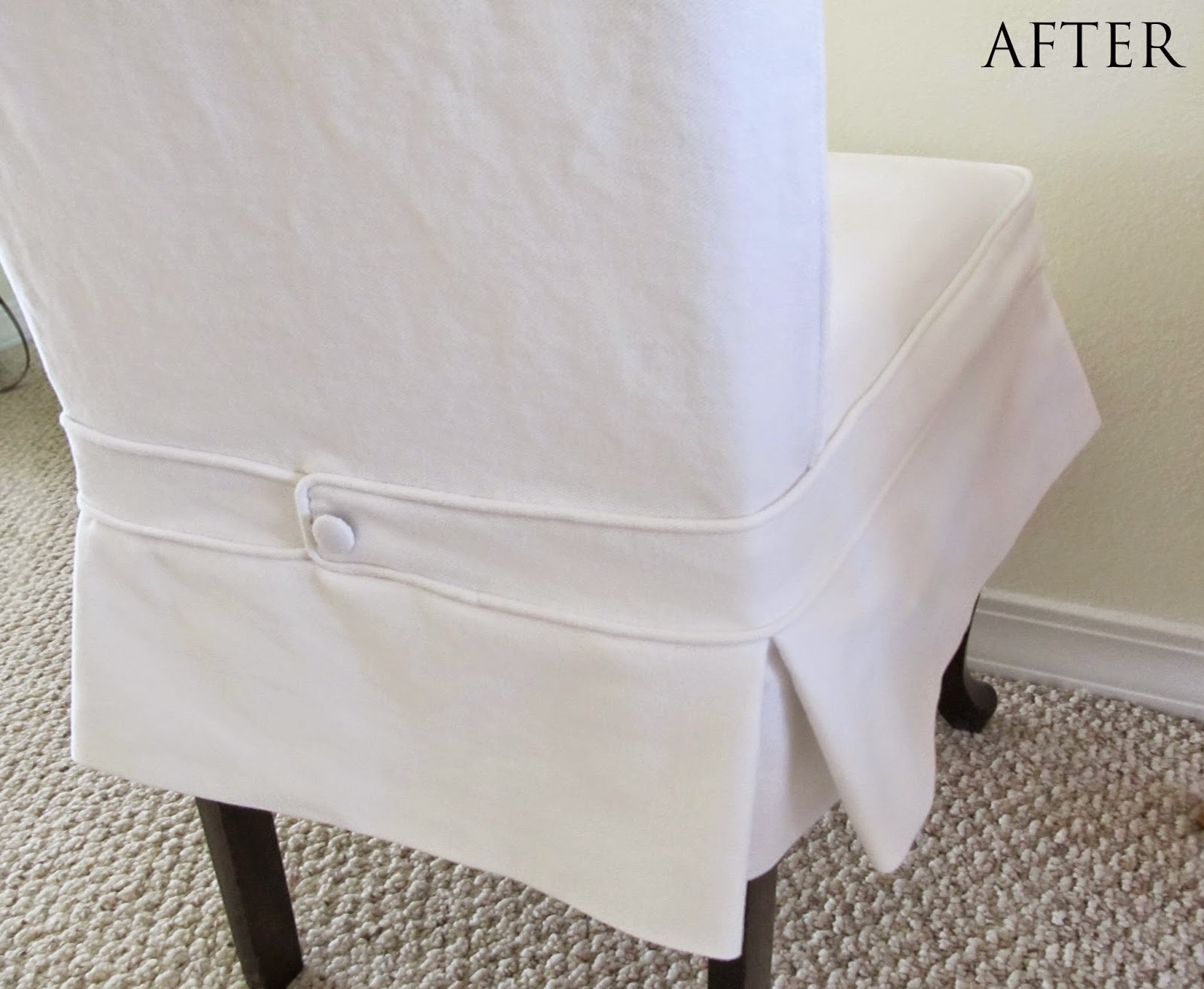New slipcover without ties