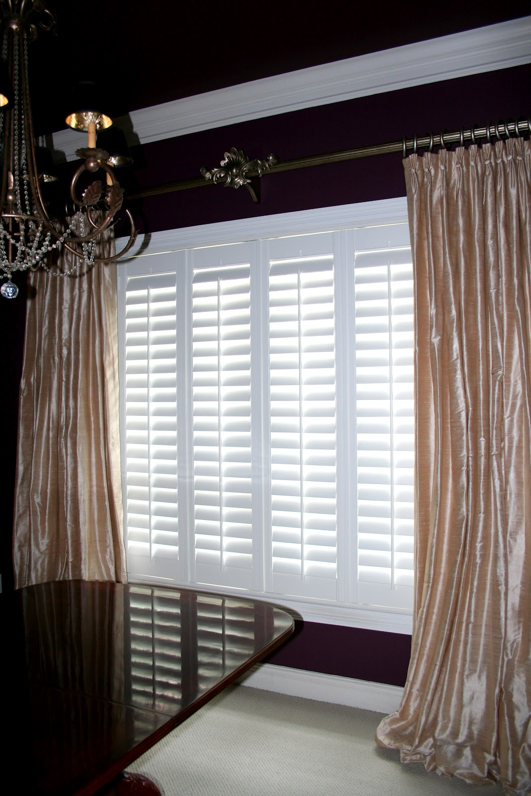 Elegant Hardware and Luxurious Window Treatments