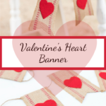 Valentine's Heart Banner DIY, easy and pretty #valentine #banner #bunting #heart #kippiathome