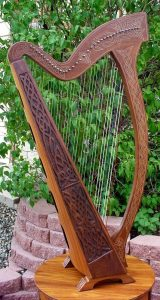 Saint Patrick's Day Celtic Harp for Saint Patrick's Day #celticharp #irishemblems #stpatricksday #coffeeinbed #selfcare #kippiathome