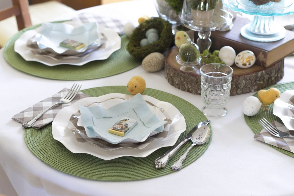 Table settings. Easter Tablescape, Easy Pretty Easter Table
