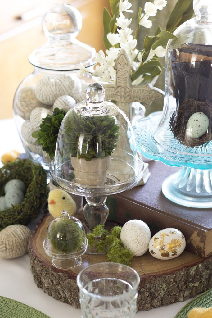 Easter Tablescape, Easy Easter Tablescape, Wool Chicks, Boxwoods