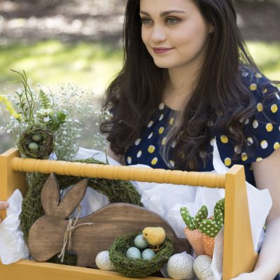 DIY Wooden Tote for Easter
