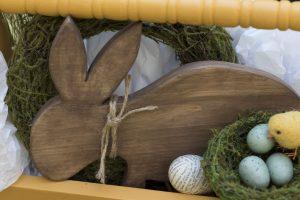 DIY Mr. Bunny and decoupaged eggs