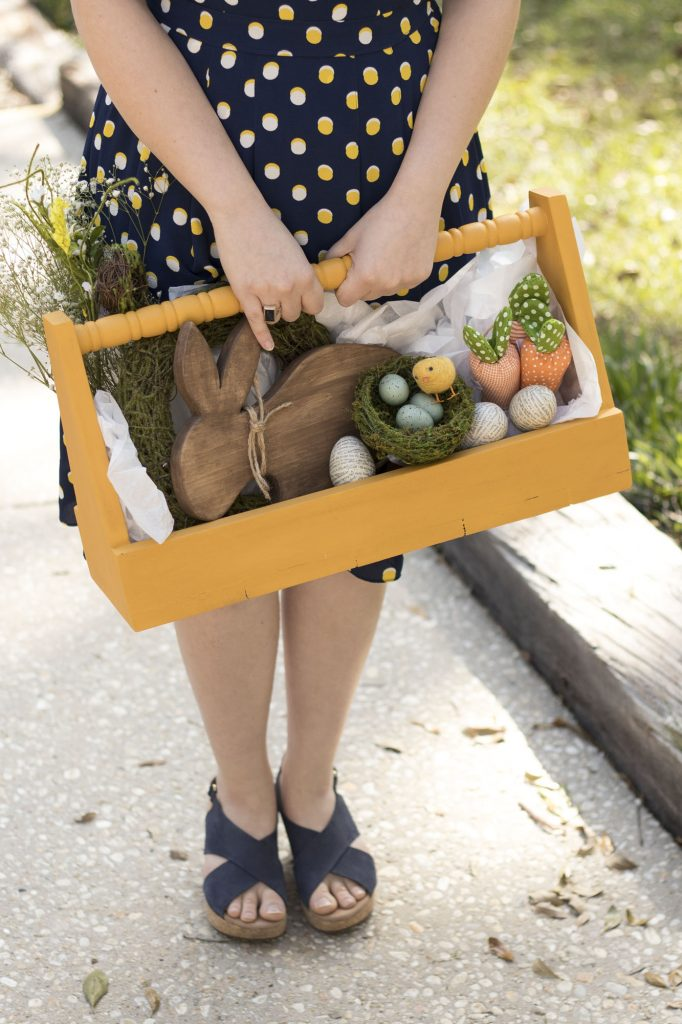 Wooden Tote for Easter