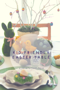 Easter Kid's Table, Easy and Simple
