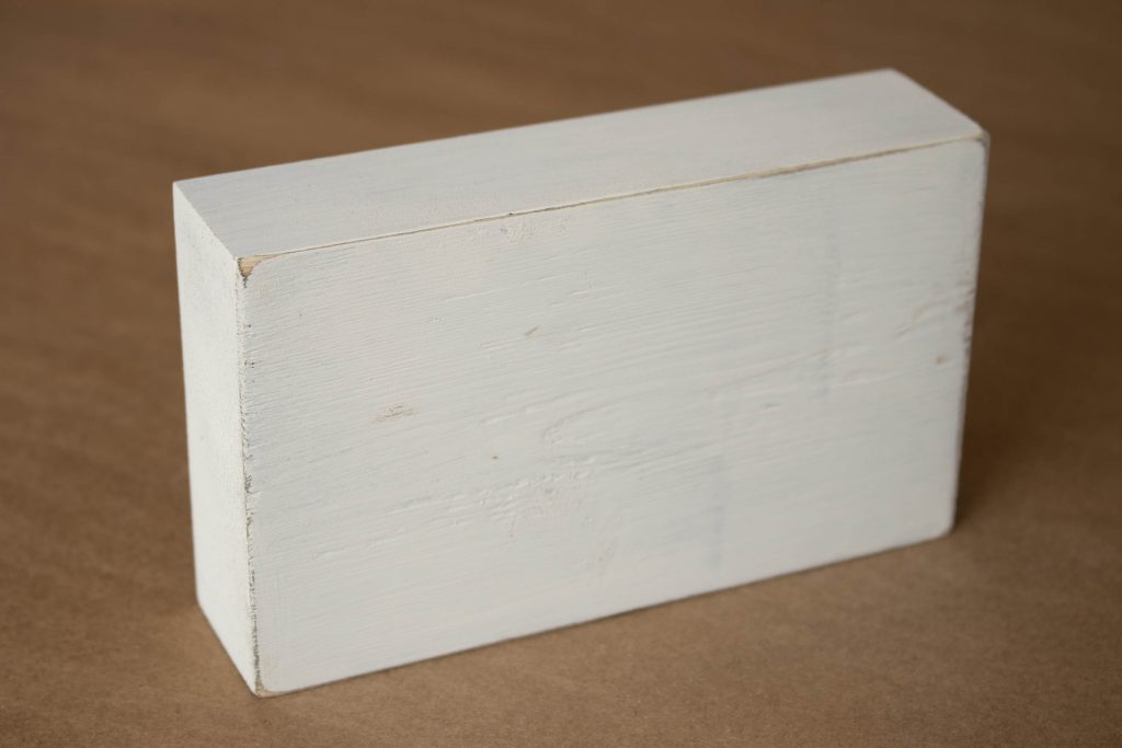 the block after sanding