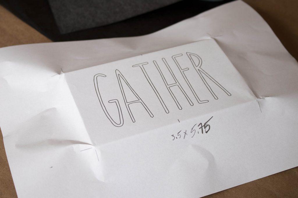Centering the design paper over the board