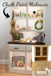 Chalk Painted Furniture Hutch