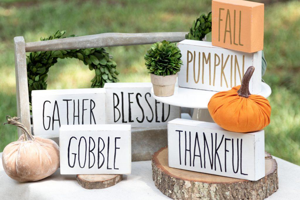 Fall Block Signs DIY Rae Dunn #signs #halloween #raedunn #kippiathome