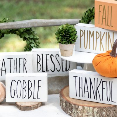 Fall Block Signs DIY Rae Dunn #signs #halloween #raedunn #kippiathome