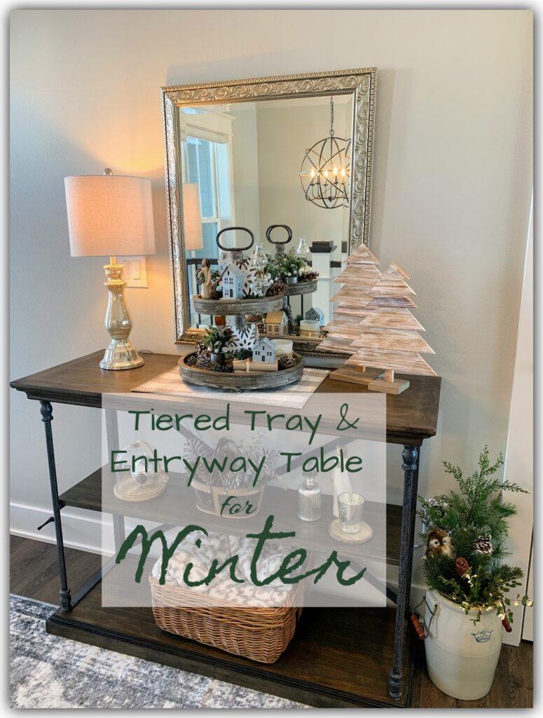Winter Entryway Table