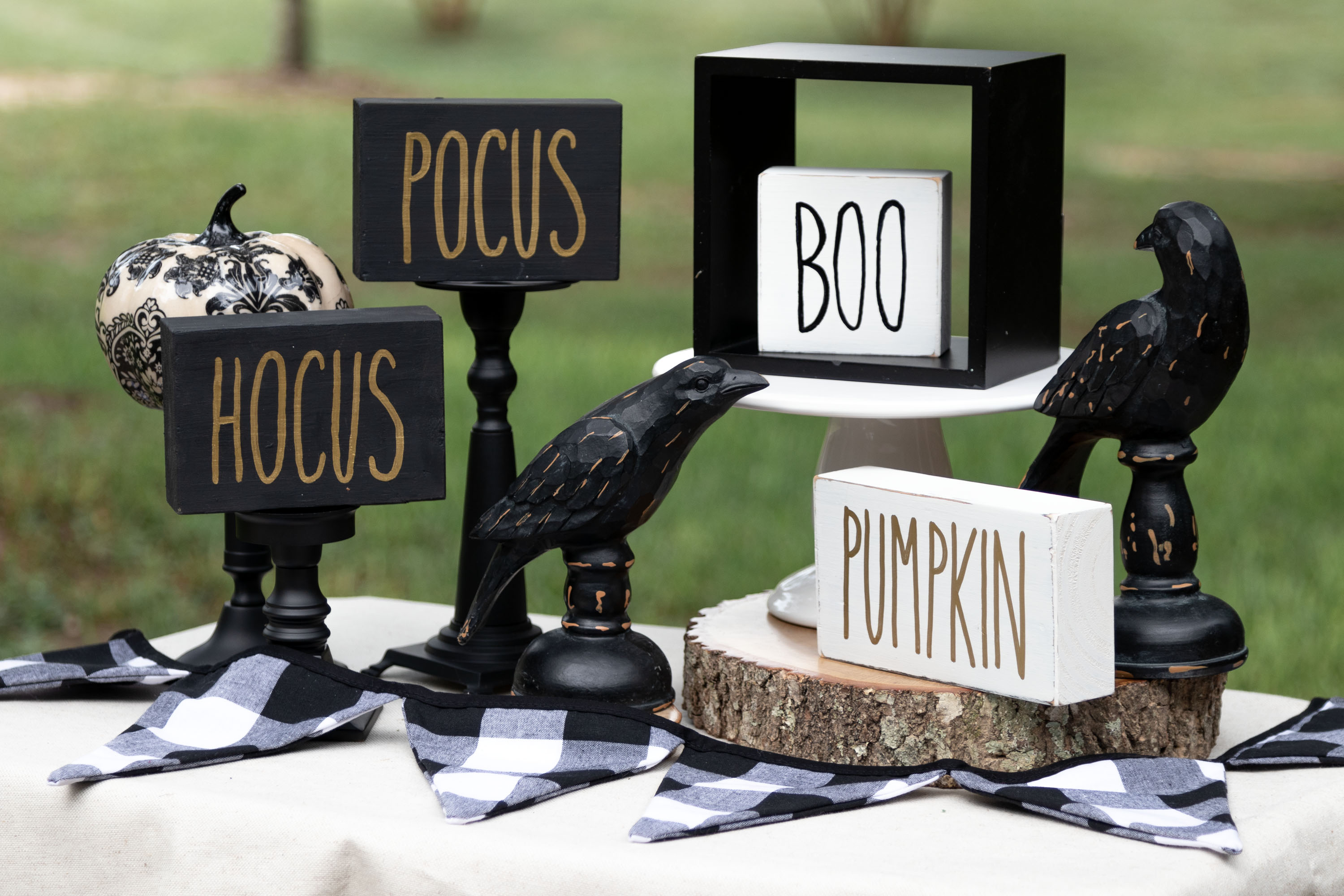 Rae Dunn Inspired Fall Signs and Halloween Block Signs