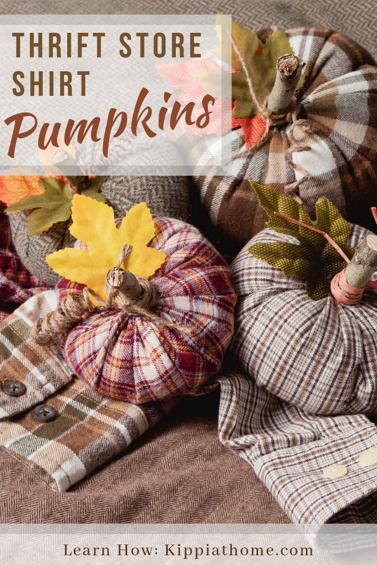 Pin for Pinterest fabric pumpkins
