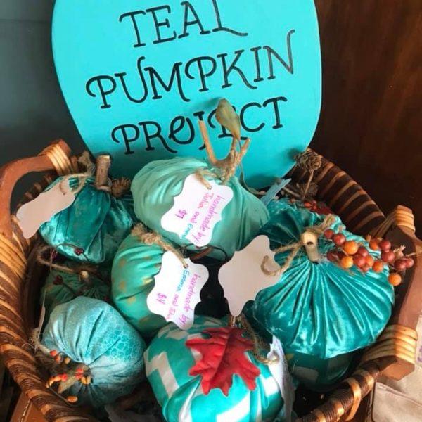 Teal Pumpkin Project easy sew pumpkins