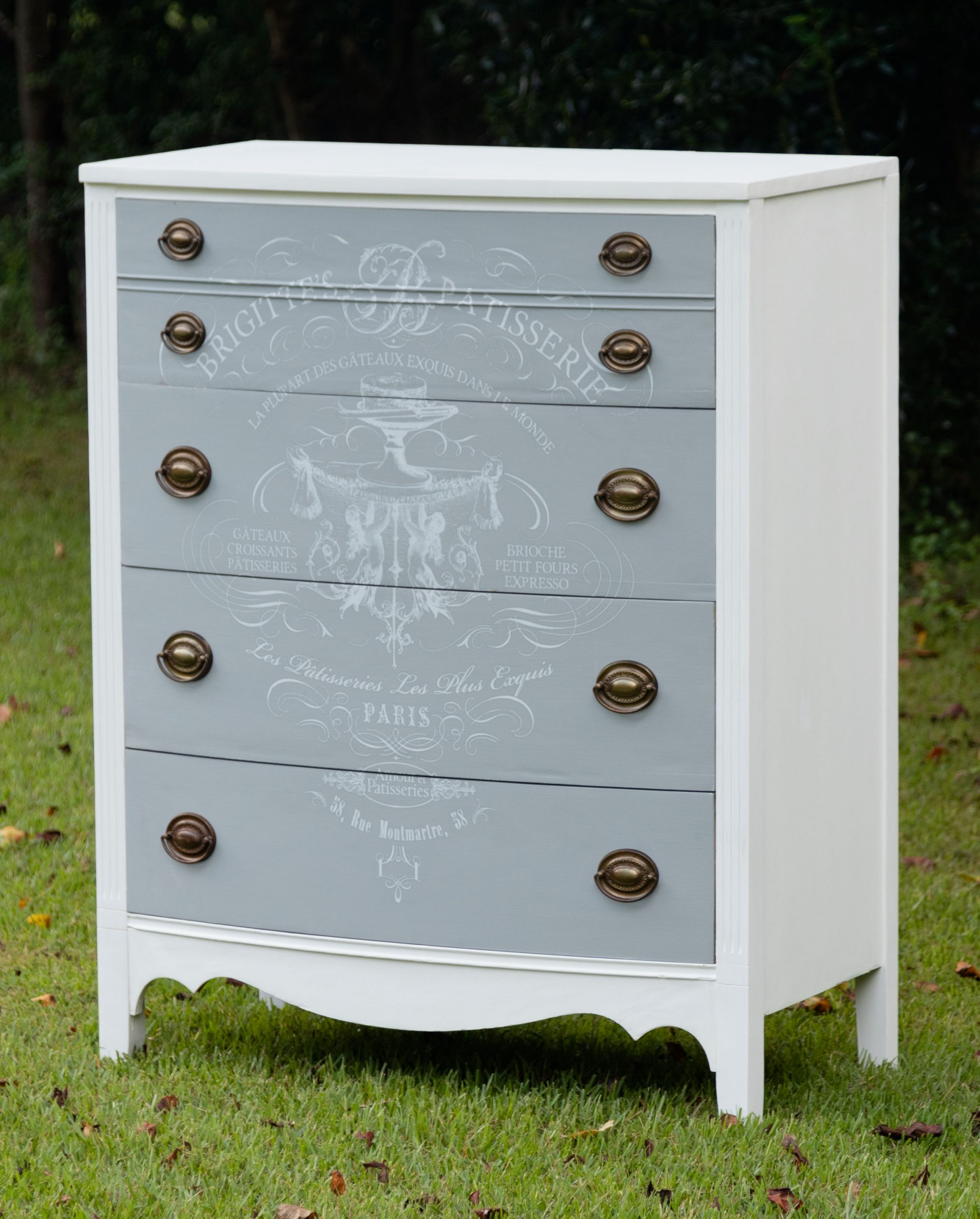 Chalk Painted Furniture with DIY Transfer
