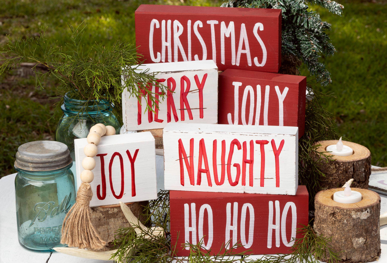 Rae Dunn Inspired Christmas Signs
