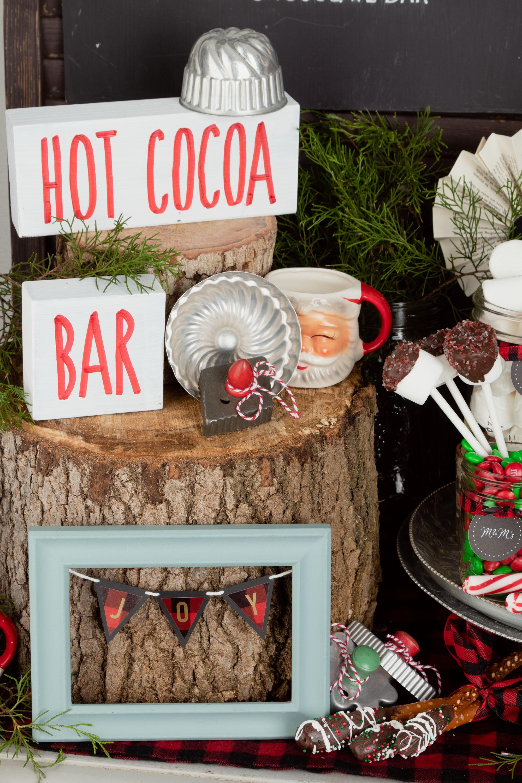 Christmas Hot cocoa bar decor