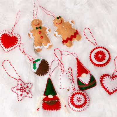 Easy Felt Christmas Ornaments