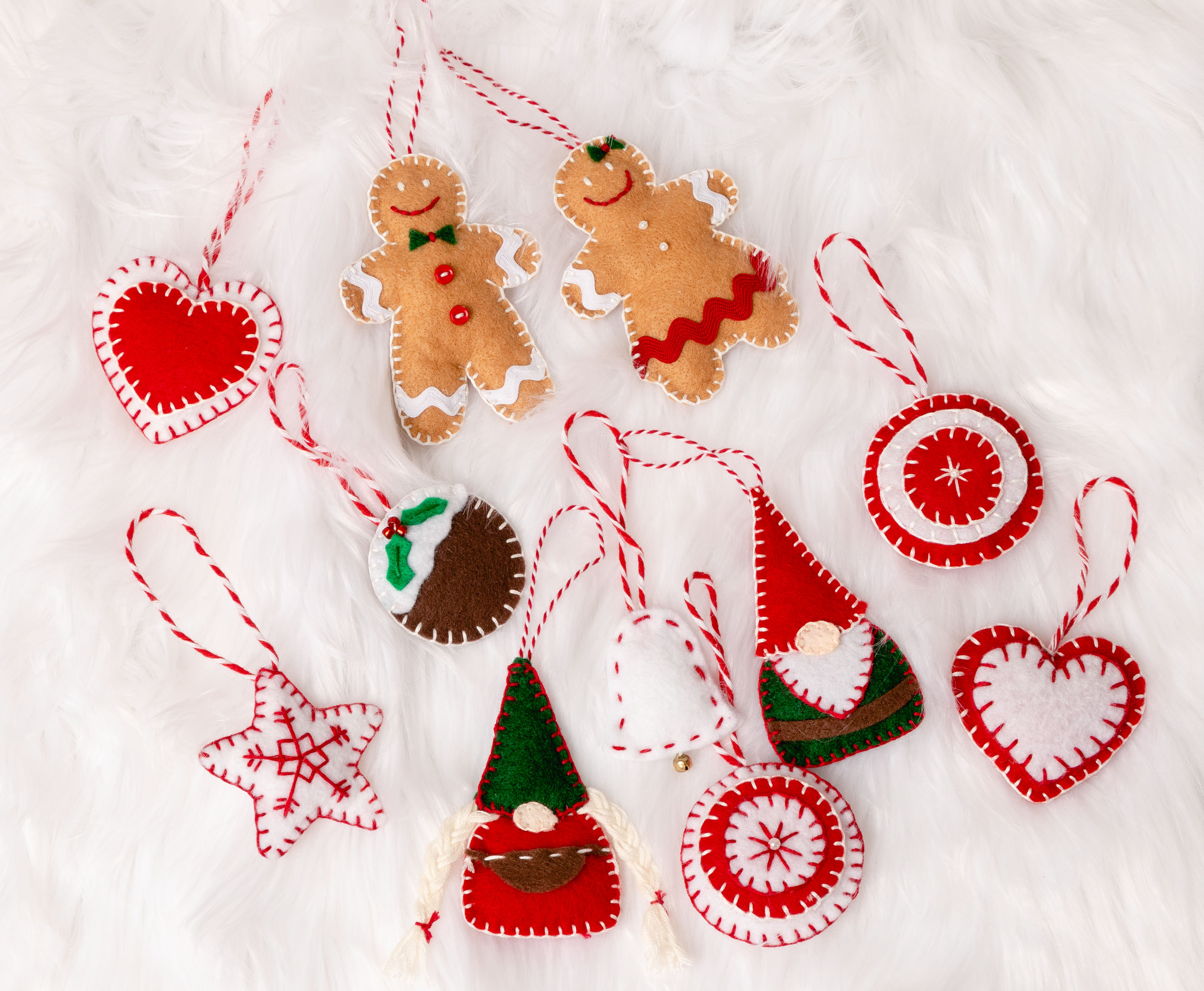 Easy Felt Christmas Ornaments Felt Decorations To Make Gnomes