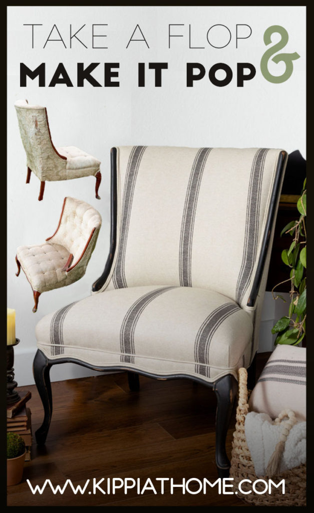 Easy chair upholstery makeover