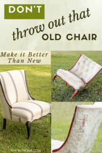 Old Chair Makeover, Upholstery, chalk paint #upholstery #vintage #kippiathome