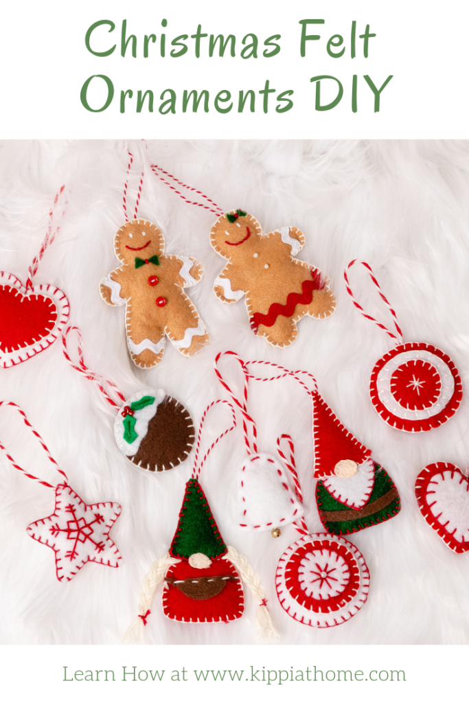 DIY Nordic felt Christmas ornaments