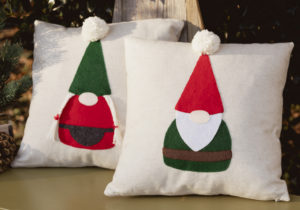 Mr. and Mrs. Gnome Applique Pillows