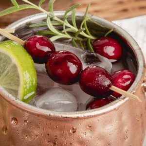 Frosty Moscow Mule with garnish