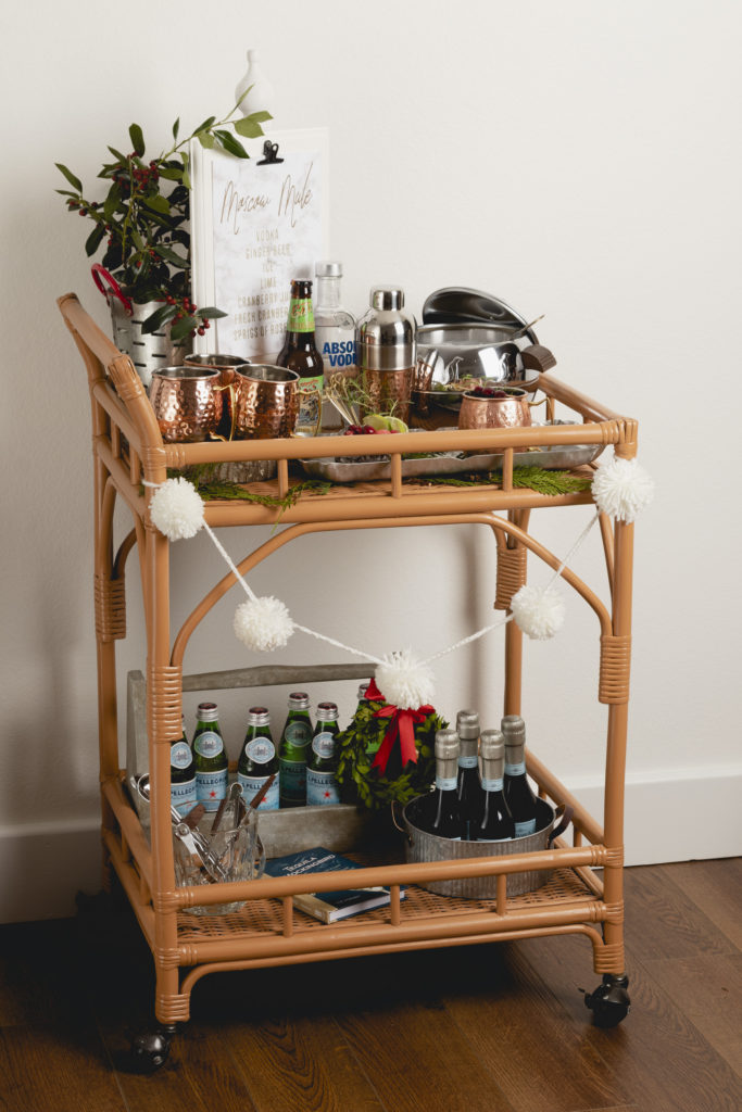 Moscow Mule Bar Cart