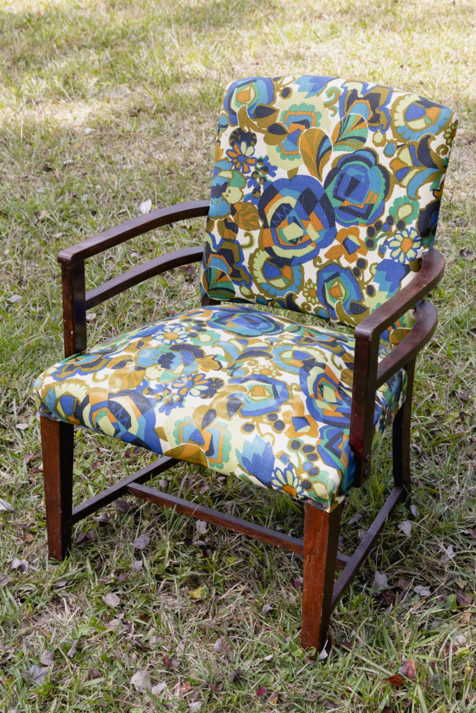 Before the vintage chair restoration
