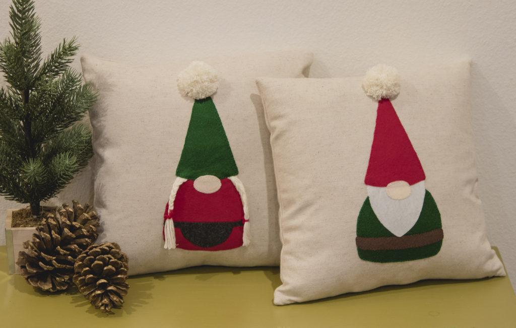 Nordic Felt Gnome Applique Pillows
