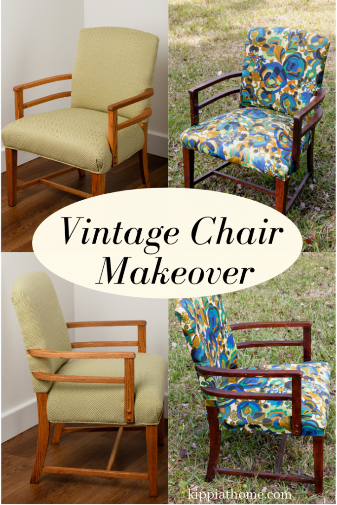 Vintage Chair before and after makeover