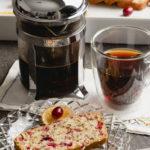 Winter Coffee Break, French Press Coffee, Best Cranberry Nut Bread Recipe #French Press Coffee, Cranberry Nut Bread #kippiathome