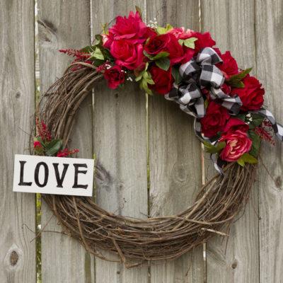 Valentine's Wreath DIY
