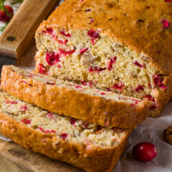 Fresh Cranberry, orange, and nut bread