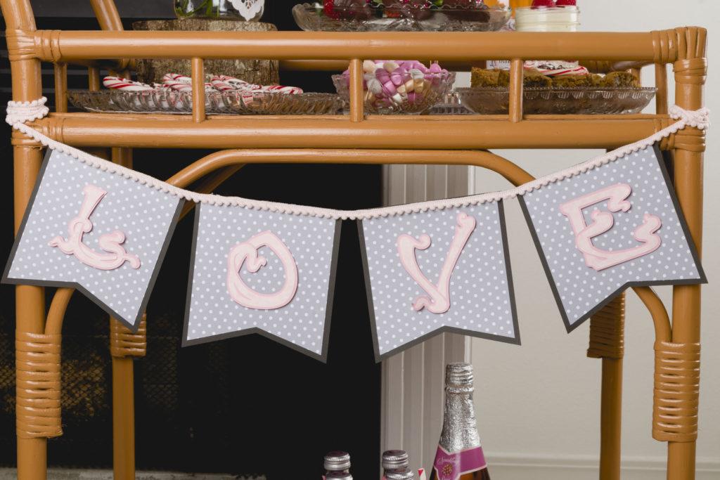 Love Banner (Cricut Maker) Easy Sweet Treats, Gnomes, SVG File Love Banner, Recipes #floral #raspberryparfait #pinkdrinks #chocolatestrawberries #kippiathome