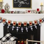 Valentine's Mantel Decor DIY, Valentine Gnome, Cricut Maker Design #valentine #cricutmaker #gnome #buffalocheck #kippiathome
