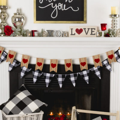Valentine's Mantel Decor DIY