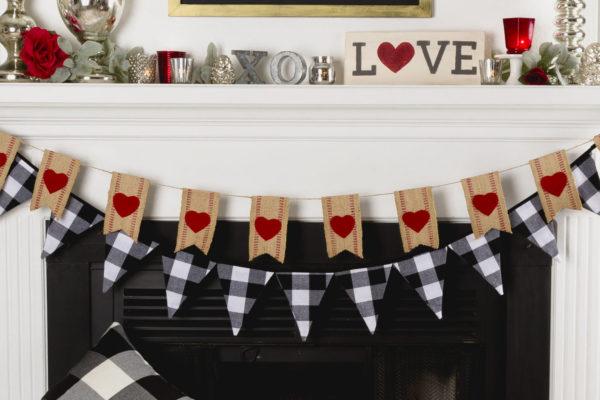 Valentine's Mantel Decor DIY
