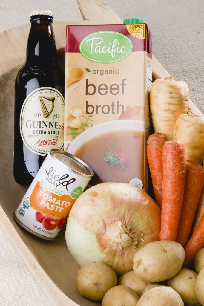 Ingredients for stew, Irish Lamb Stew, Irish Soda Bread #irishstew #guinnessstew #lambstew #kippiathome