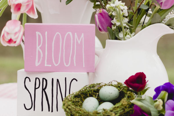 Spring Block Sign DIY