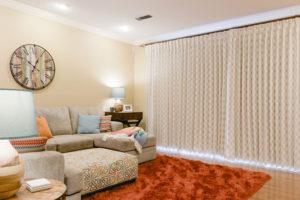 Family Room Window Treatment Transformation #windowtreatments #kippiathome #problemwindows