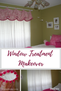 window treatment makeover #valance #kippiathome