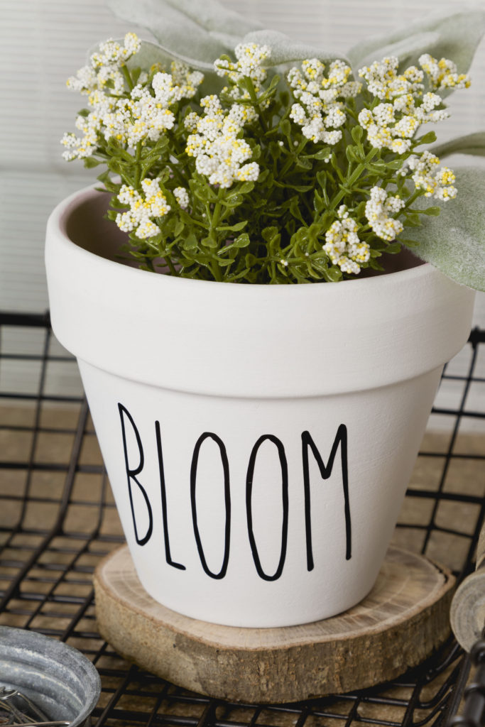Rae Dunn Inspired DIY flower pot, Valance DIY
